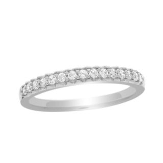 13 Ct Natural White Diamond Band 10K Solid Gold Engagement Ring Sz 7