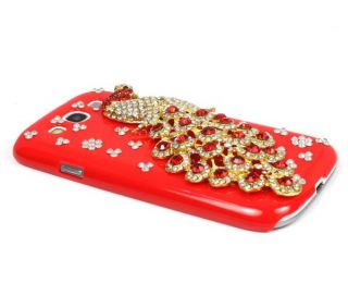 High Quality Luxury Peacock Diamond Case Cover for Samsung i9300