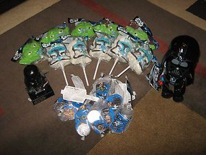 STAR WARS BIRTHDAY PARTY FAVORS MARSHMALLOW POPS CHOCOLATE COINS DARTH