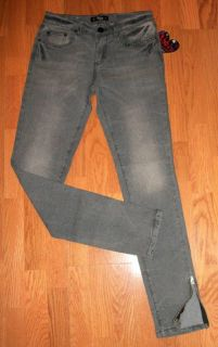Abbey Dawn Avril Lavigne Gray Studded Skinny Jeans New