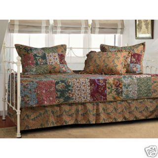 Antique Chic Reversible Quilted 5pc Set Daybed Bedding