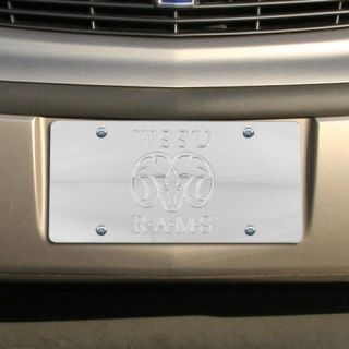 Winston Salem State University Rams Silver Mirrored License Plate