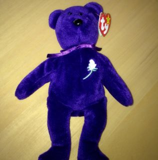 PRINCESS DIANA BEANIE BABY TY RARE P E No Space Tag No Number