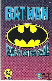 DC Heroes Batman Role Playing Game Softcover Mayfair