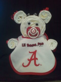 Diaper Cake Bear Bama Fan Bib