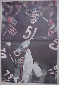 Dick Butkus Sports Illustrated Poster 1970 Chicago Bears NFL