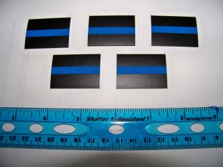 pack REFLECTIVE Thin Blue Line Decals / Stickers  3M