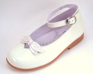 De OSU Spain Girls Ivory Patent Leather Dress Anklestraps K 1084 Euro