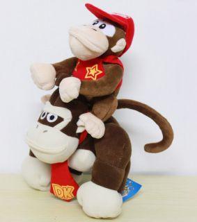 2X Nintendo Super Mario Diddy & Donkey Kong Plush Toy Stuffed Animal