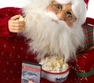12 Popcorn Sculpted Santa Figurine by Karen Didion