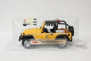 Rubicon Brush Fire Unit Diecast Model Car Maisto 1 18 Yellow