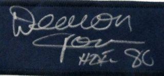 Deacon Jones Signed Los Angeles Rams Jersey HOF 80 inscr JSA