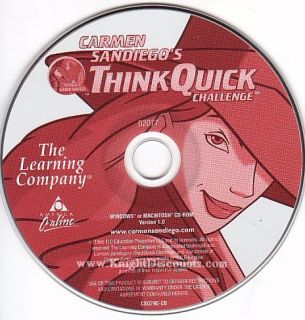 Carmen Sandiego Think Quick Challenge PC Mac Game $2S H 798936824097