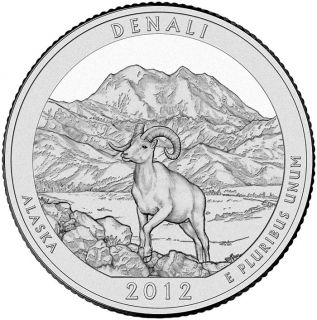 2012 S ALASKA DENALI NATIONAL PARK. UNC. SAN FRAN. MINT MARK BUSINESS