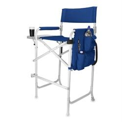 Picnic Time Celebrity Chair Portable Folding Director Style Chair