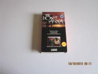 Africa VHS Slip Lorimar Brian Dennehy Brooke Adams Josef Shiloa
