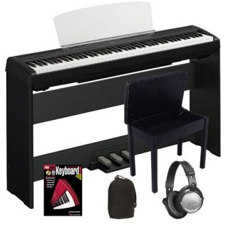 Yamaha P95 Black P 95B 88 Key Digital Piano COMPLETE HOME BUNDLE