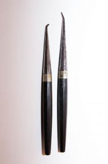 Lot of Two Ebony Handled Dental Tools c.1850s JONES WHITE & McCurdy