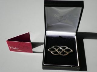sterling silver celtic knot brooch pin heritage Declan Killen Dublin