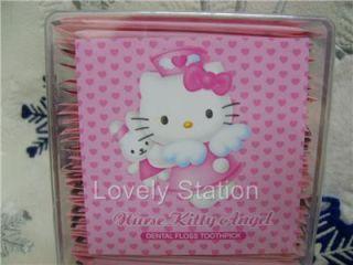 Hello Kitty Travel Dental Floss Toothpick 50 Pcs
