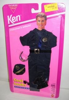 RARE NRFC Cool Looks Ken Barbie Police Officer Uniform Fashion