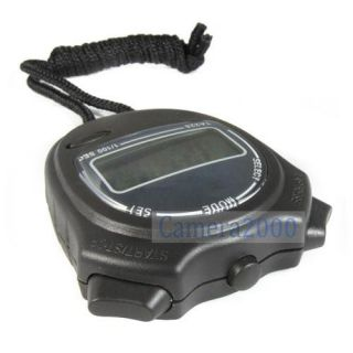 Digital Sport Stopwatch Handheld Stop Watch Alarm Clock