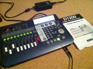 Korg D1200 Digital Recording Studio with Manual