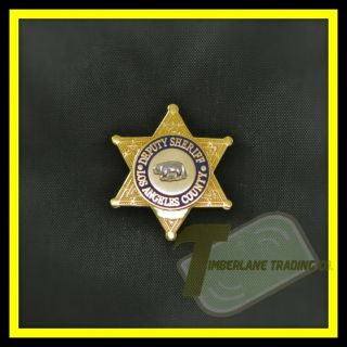 Los Angeles County Sheriff Mini Deputy Badge Lapel Pin Collectible NEW