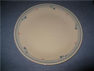 Corelle Country Violet Dishes Dinner Plates Blue Flower Red Dot