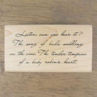 Decorative Stamps Rubber Stamp Phrase Listen