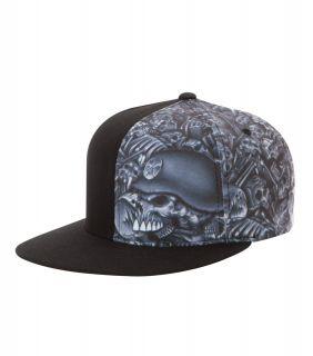 Mulisha Black Skull Hat Cap Deegan Flex Fit mm FMX SX MX