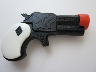 black white derringer mini pistol new toy cap gun