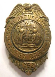 Old Special Deputy Sheriff Badge Essex County NJ