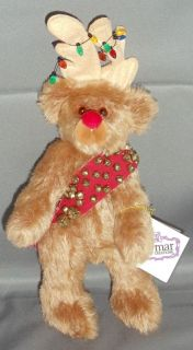Jingle Deer Mohair Christmas Teddy Bear Reindeer by Julie Terry Folks
