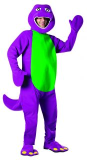 Purple Dinosaur Mascot Adult Mens Womens Halloween Costume