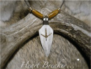 Deer Spur Turkey NWTF Bone Arrowhead Antler Necklace Free Mathews or