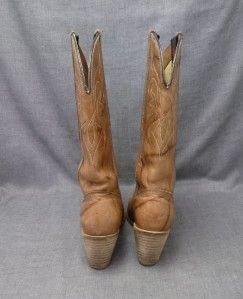 Dingo Womens 6M Cowboy Western Boots 7316 Sandalwood Light Brown Tan w