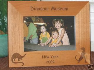 4x6 Dinosaur Picture Frame Personalized Engraved Gift