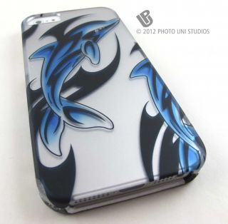 Streaking Dolphins Hard Snap on Case Cover Apple iPhone 5 6th Gen