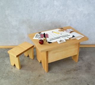 Desk Set 4 Ginny Madame Alexander Dolls Back to School Wood Furniture