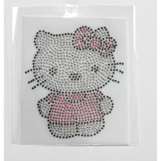 Rhinestone Iron on Transfer Hot Fix Design Hello Kitty