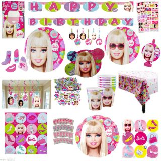 Barbie All DollD Up Birthday Party Supplies Create Your Own Set You