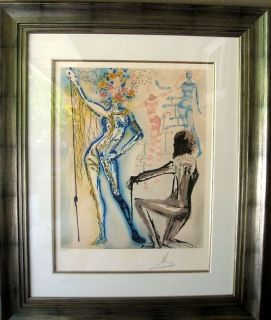 Dali Original Lithograph Fashion Designer Signed Top Piece