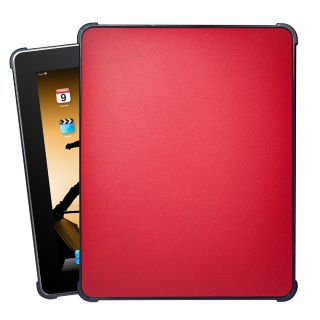 XGear iPad Red Faux Leather Hard Case Cover IPD FXLTH RD