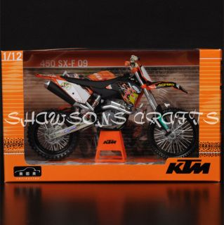 DIE CAST 1/12 KTM 450 SX F 09 MOTORCYCLE MODEL DIRT BIKE REPLICA