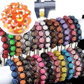 New AB Disco Ball Charm Friendship Multicolor Bracelets Beads Bangle