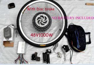 48V1000W E Bike Motor Conversion Kit w Disc Brake 26