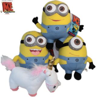 Despicable Me Souvenirs Minion Unicorn 4x Plush Toy Stuffed Animal