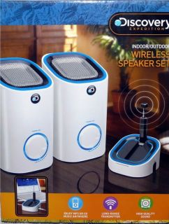 Discovery Channel Expedition Wireless Portable Indoor Outdoor Speakers