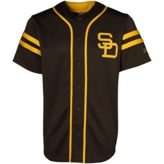 Majestic San Diego Padres Throwback Heater Jersey Brown